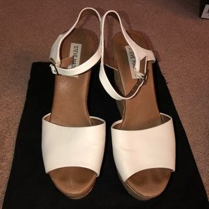White Steve Madden Wedges